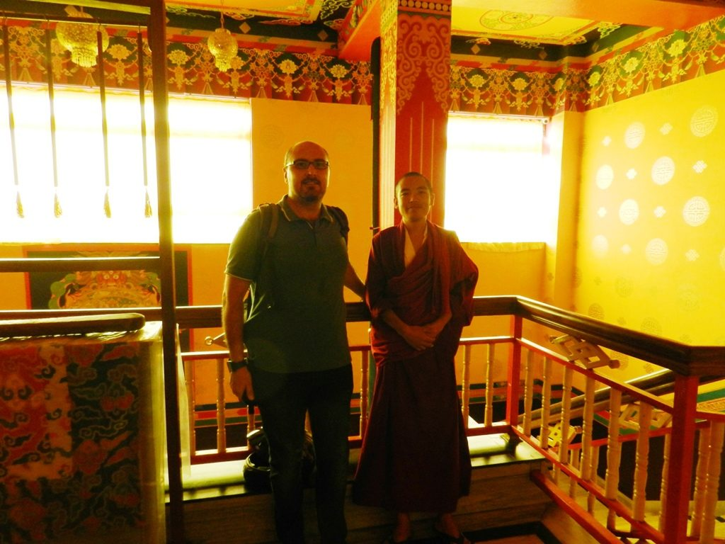 Io insieme ad un monaco buddista tibetano