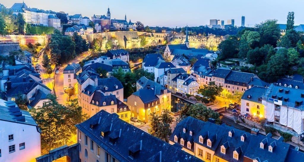 Panorama di Lussemburgo città