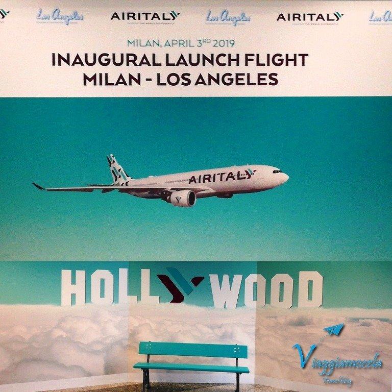 Volo inaugurale Milano - Los Angeles